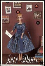 Nostalgic Barbie POSTCARD Lets Dance Barbie 1960 MINT