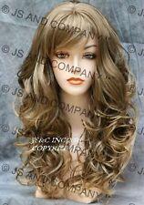 Bouncy Long Wavy Blonde pale brown MIX Wigs JSCA 8-124