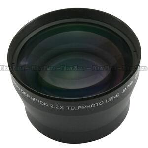72mm 2.2X Magnification Telephoto Tele Converter Lens for Digital Camera 2.2X 72