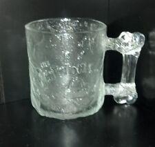 McDonalds Flintstones Collectable Glass Pre-Dawn Mug Rare Vintage Retro