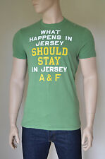 NEW Abercrombie & Fitch Ranney Trail Jersey Shore Humour Tee T-Shirt Green L