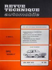 RTA revue technique 326 OPEL REKORD 2 - RENAULT 6 TL