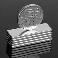 5pcs 30X10X2MM Seltene Erden N35 Rechteckige Platte Super Stark Ndfeb Magneten