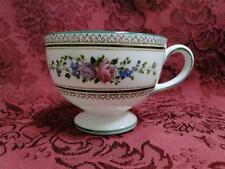 Wedgwood Columbia, White, Flowers, Medallion, Green Trim: Leigh Cup (s) Only