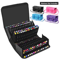 120 Slots Marker Pen Storage Case Carrying Bag Holder Organizer For Touch