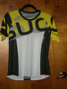 (Small) Sugoi Turbo Tee Women's BLACK/YELLOW Bike Cycling Jersey Shirt Top