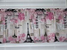 Eiffel Tower Pink In Paris France Valance Window Curtain Treatment Topper