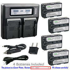Kastar Battery LCD Dual Fast Charger for Sony NP-FM50 Cyber-shot DSC-F828 DSC-R1