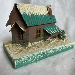 Vintage Christmas Mica Putz House Made in Japan