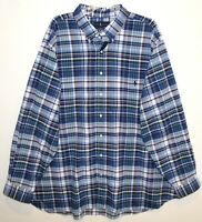 Polo Ralph Lauren Big and Tall Mens 3XLT Blue Plaid Button-Front Shirt NWT 3XLT