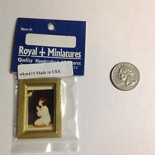Dollhouse miniatures Picture of Girl Praying