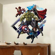 Avengers in Wall Crack Kids Boy Bedroom Decal Art Sticker Gift Superheroes Wall