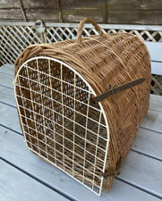 Vintage Cat Carrier Basket Wicker Cat Carrying Basket Small Animal Pet Carrier