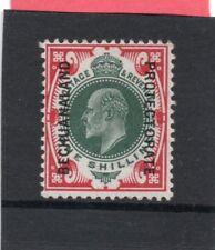 Bechuanland EV11, 1904-13 1s green & carmine sg 71 H.Mint
