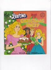 Vtg.Barbie Christmas Party Kid Stuff Book And Record 1981 #Ksr972 Mattel