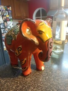 kathryn youngs Red Glass Elephant Piggy Bank