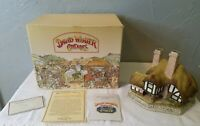 1991 Resin David Winter Cottages Moonlight Haven Figure in Original Box