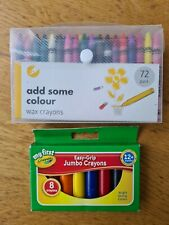Crayola & Other Wax Crayon Bundle 80 Crayons NEW