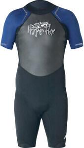 Hyperflex Men's Access Shorty Spring Suit, 2.5mm Wetsuit, Back Zip, Black / Blue