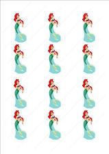 Novità Princess Ariel Sirena Torta Cupcake Topper Wafer Commestibile birthday
