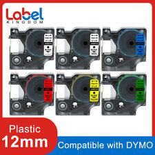 Dymo D1 45013 Label Tape 12mm Black on White for Dymo LabelMananger 160 280 420P