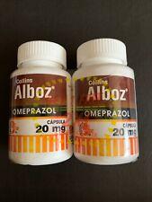 Alboz Omeprazole 20mg OTC Heartburn Acid Reflux 2 Bottles 120 Total Capsules
