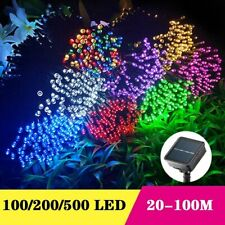 50m 500 LED Solar Fairy String Lights Outdoor Party Xmas Tree Waterproof AU