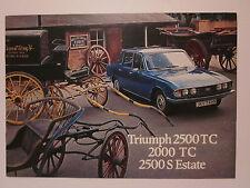 Triumph 2500 TC, 2000TC, 2500S estate sales brochure. 10/75.