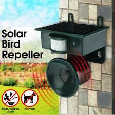 Solar Ultrasonic Bird Repeller PIR Motion Sensor Animal Pest Control Scarer Dete