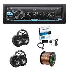 Jvc Kd-X340Bts 1-Din In-Dash Stereo W/Jvc 2-Way Speakers, Wire & Radio Tuner