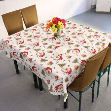 Mantel De Navidad Santa Claus Blanco, Mesa De Navidad Decoración, 180 * 150cm