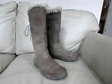 The North Face brown nubuck leather knee high insulated winter Boots 200g-NICE-9