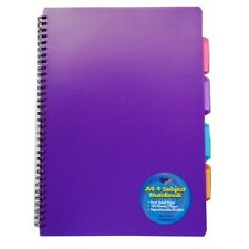 Tiger A4 project notebook 4 subject divider with plastic cover any colour 301475