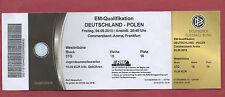Orig.Ticket    EM Qual.  04.09.2015    DEUTSCHLAND - POLEN   !!    SELTEN