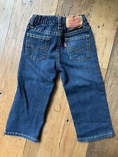 Levis 526 Regular Baby Boy Dark Wash Denim Jeans Size 18 MonthS CUTE!