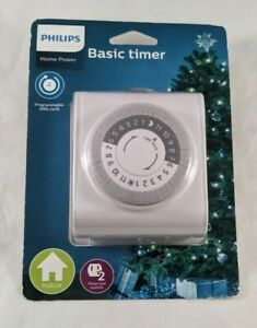 Philips Home Basic Timer Indoor Programmable Daily Cycle Polarized 2 Outlet