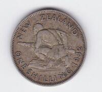 1942 New Zealand NZ Shilling Silver Coin E-766