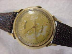 Vintage 14K GOLD large antique Art Deco HAMILTON AUTOMATIC mens watch