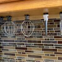 4 PACK Holder Organizer Storage Hanger For KitchenAid Mixer Attachment 5&6 QUART