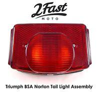 Lucas L917 Replica Tail Light Taillight Brake Stop Lamp Assy Triumph BSA Norton