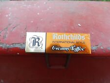 Vintage Rothschilds Candy Metal Sign MINT NOS GAS OIL SODA DOOR PUSH COLA NR!