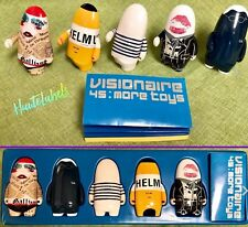 KIDROBOT 45 More Toys💥VISIONAIRE Blue Set GAULTIER, ARMANI, LANG, GALLIANO, YSL