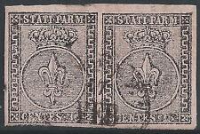 ITALIA-STATI Parma: 1852 15 C ROSE COPPIA FINE USATO - 2031