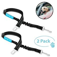 Dog Seat Belt Leash Pet Seatbelt Car ELASTIC Safety Adjustable Harness 2 Pack