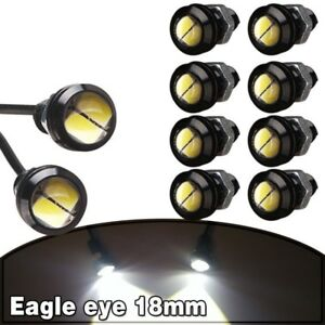 10 X 9W 18mm 12V 2 LED White LED Eagle Eye Light Car Fog DRL Daytime Reverse