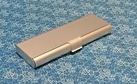 Aluminum Metal Pencil Case Pen Box Stationery Storage Silver Ships from USA