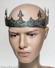 Crown Kings Silver Stamped Metal 8 Point Medieval Renaissance Royal Headpiece