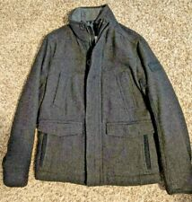 Abercrombie & Fitch Men's Wool Military Field Jacket Coat - Gray - Medium