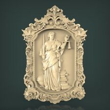 (940) STL Model Femida Themis for CNC Router 3D Printer Artcam Aspire Bas Relief