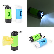 Pet Waste Bag Holder with LED light for Lead Walking Carrying SK